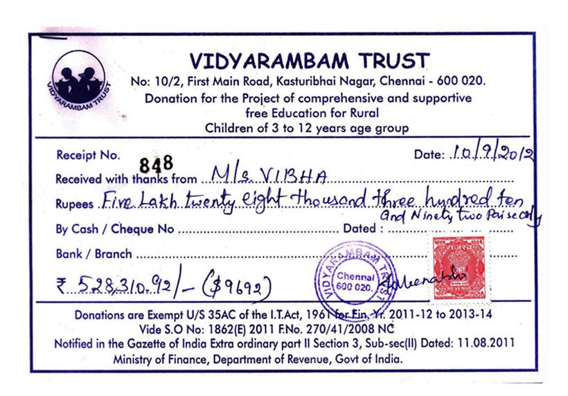 Doc571366 Sample Donation Receipt Sample Donation Receipt – Donation Slip Sample
